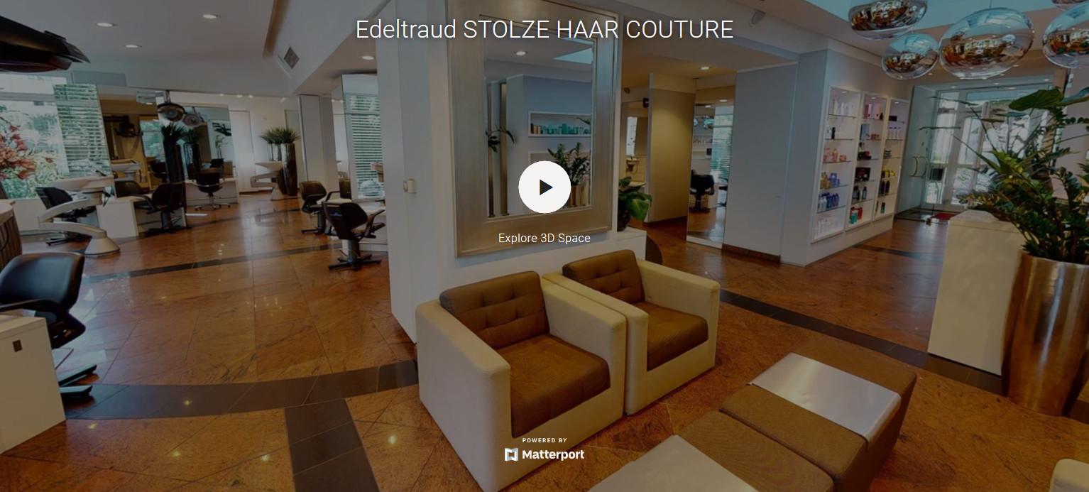 Innenansicht des Friseursalons und Schönheitszentrums Straubing
